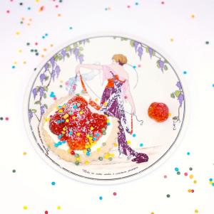 Art Nouveau Plate Foodphotography Tartlets