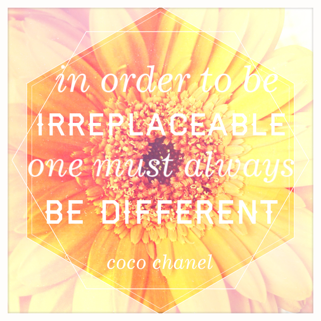 Sunday Inspiration Coco Chanel be different! via Passion and Obsession blog