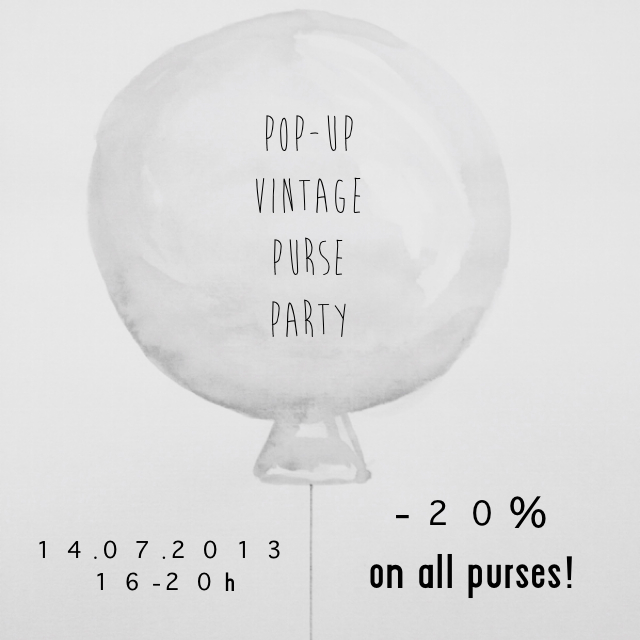 Invitation pop - up purse party Stilzitat