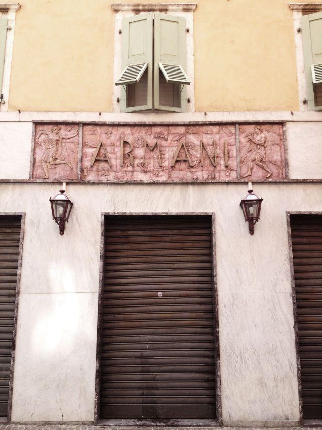 Armani in Riva del Garda via Stilzitat blog