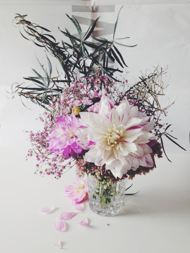 Pale pink dahlias via Stilzitat blog