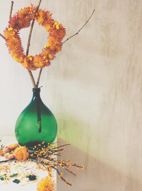 Chrysanthemum  by Stilzitat and large vintage bottle