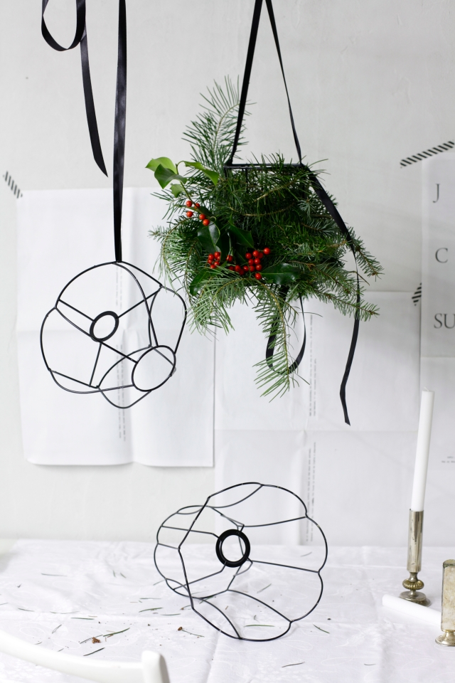 Christmas lamp chandelier diy via Stilzitat blog