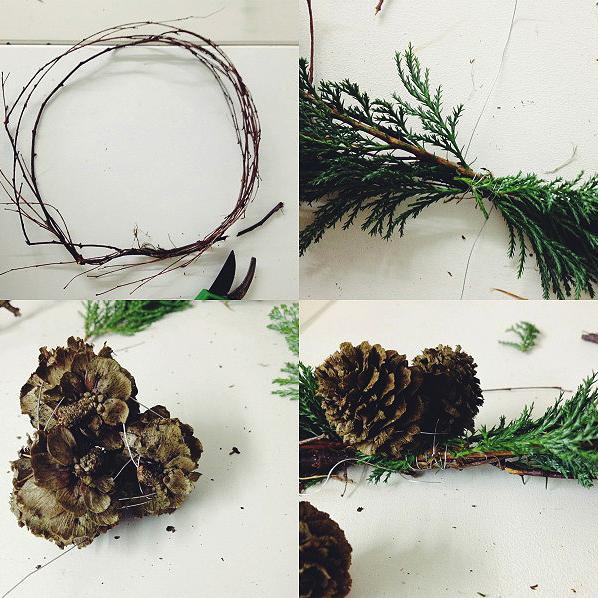 Stilzitat Christmas wreath DIY via Stilzitat blog