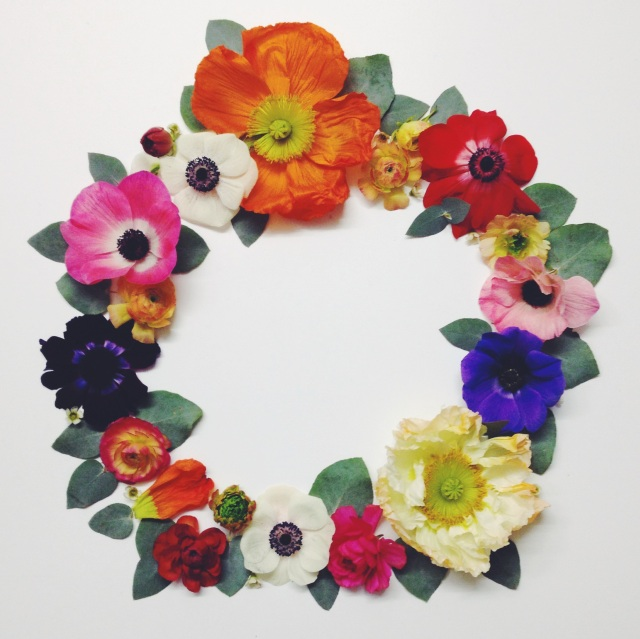 Flower wreath via Stilzitat blog