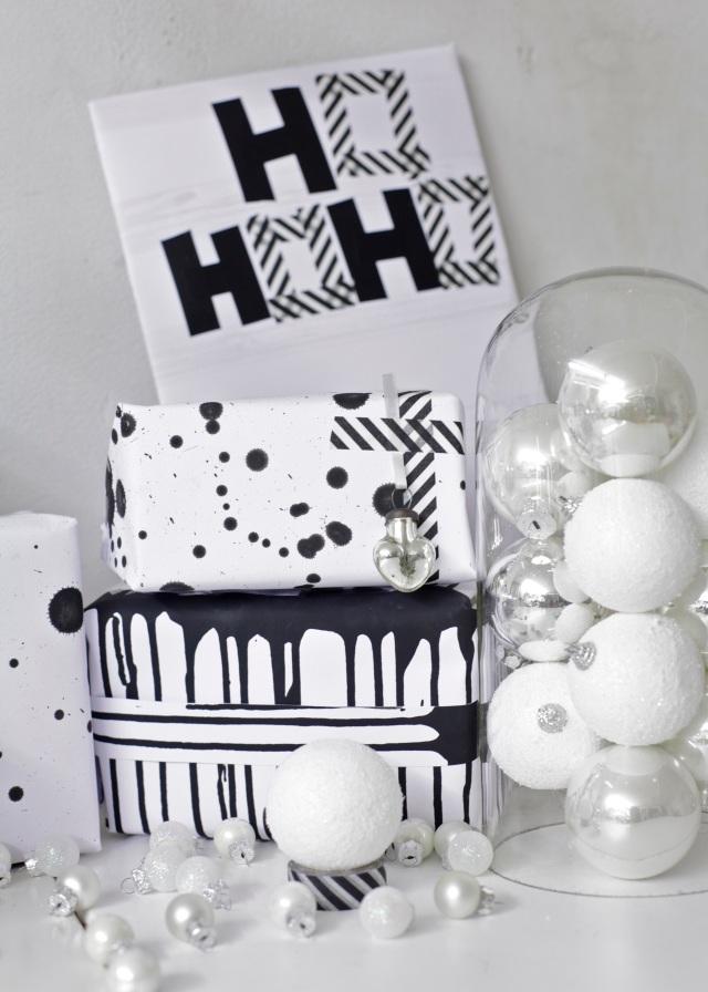 Minimalistic Christmas wrapping DIY via Stilzitat