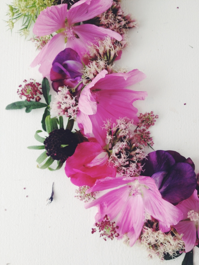 Summer flowers wreath via Stilzitat blog